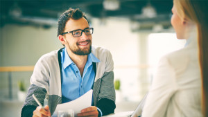 job-seeker interviewing