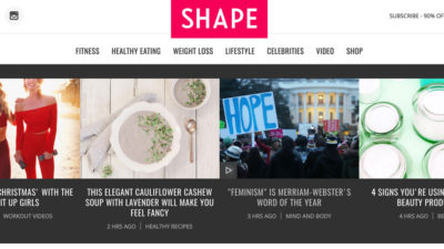 Shape.com Homepage