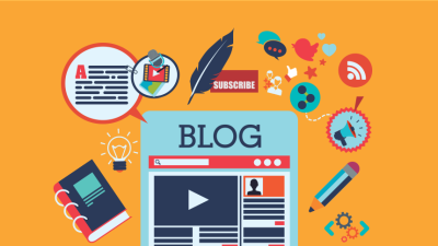 Illustration of Blogging