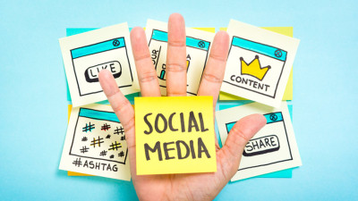 Illustration of Social Media Strategy