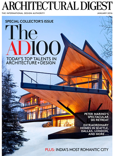 Architectural Digest masthead, January 2016