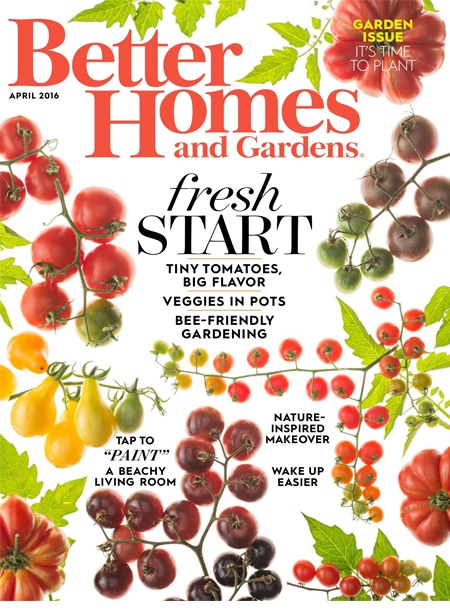Better homes and gardens masthead magazine cover april 2016