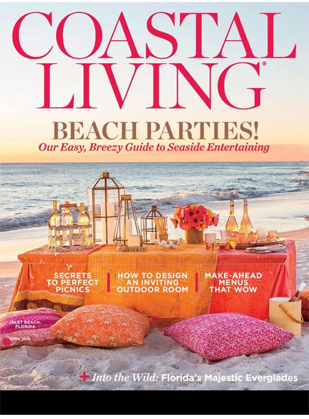 Coastal Living masthead magazine cover