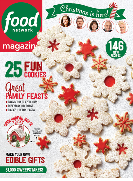Food Network Magazine masthead, December 2015