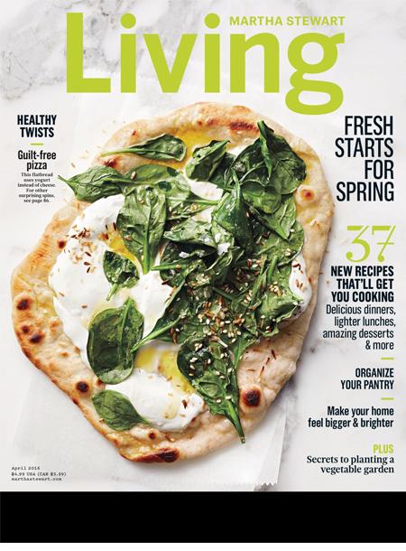 Martha Stewart Living magazine cover masthead april 2016