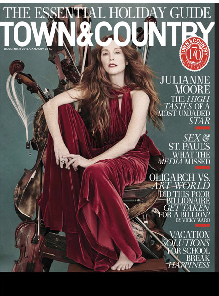 Town & Country masthead, December/January 2016