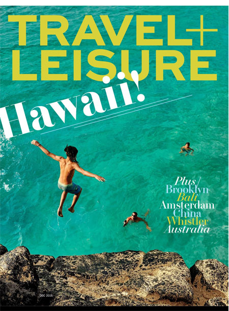 Travel + Leisure masthead, December 2015