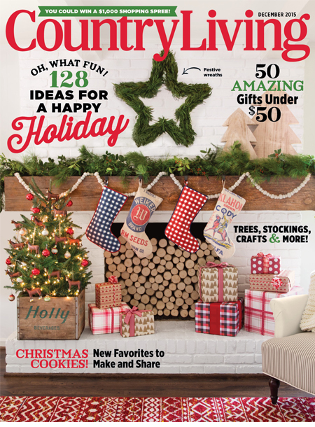 Country Living masthead, December 2015