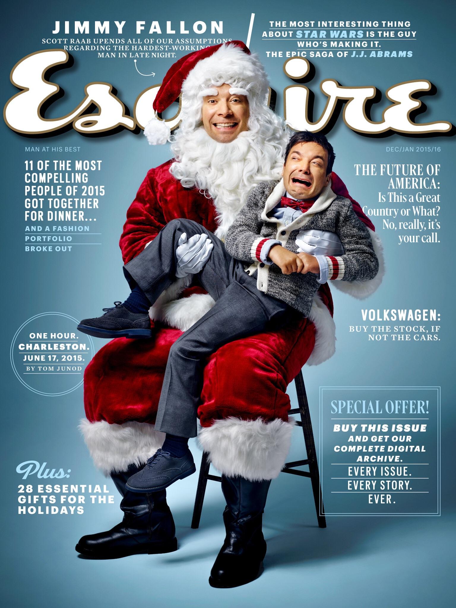 Esquire masthead, December/January 2016