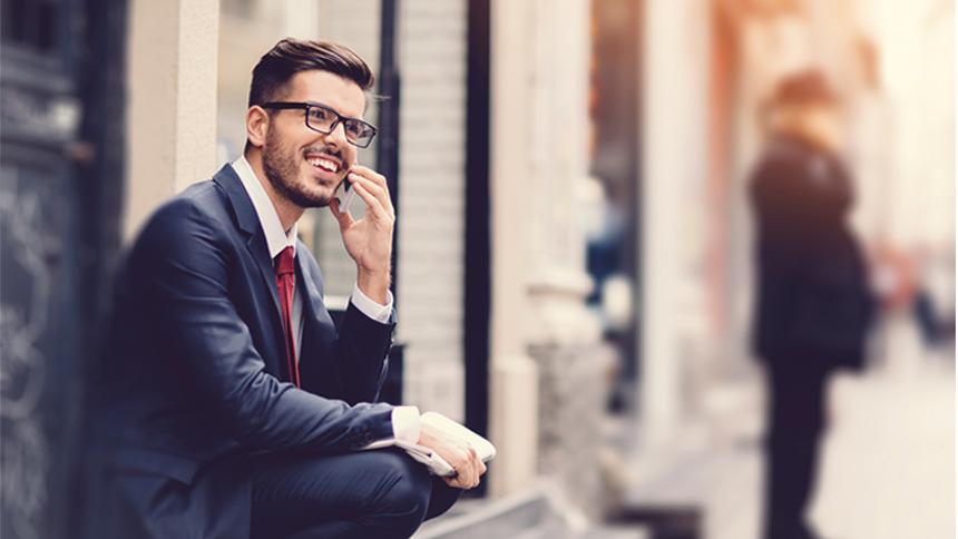 job-seeker answering a phone call