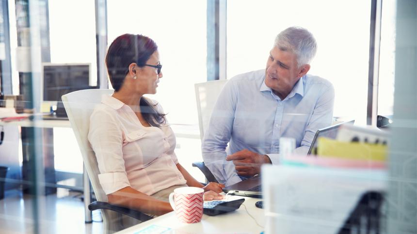 mentor helping a mentee