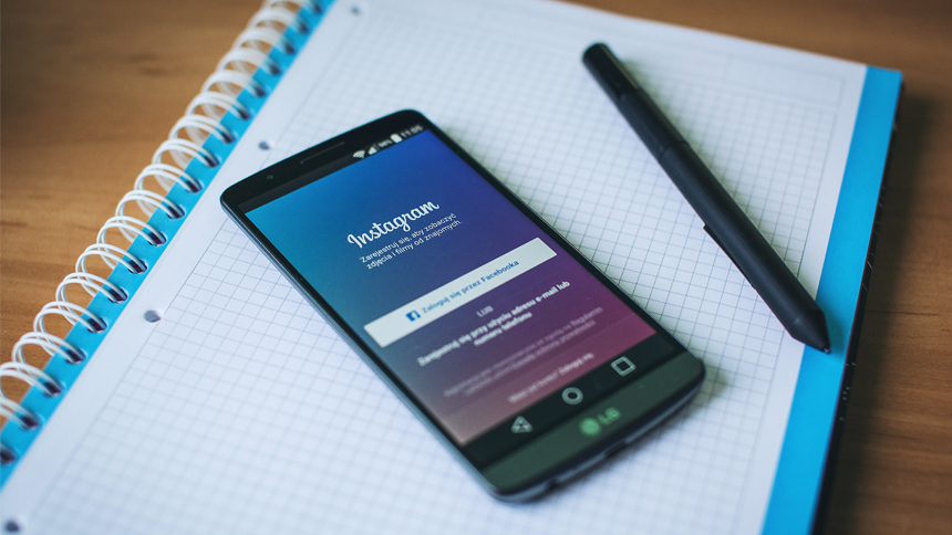 smartphone with social media app, linkedin, open