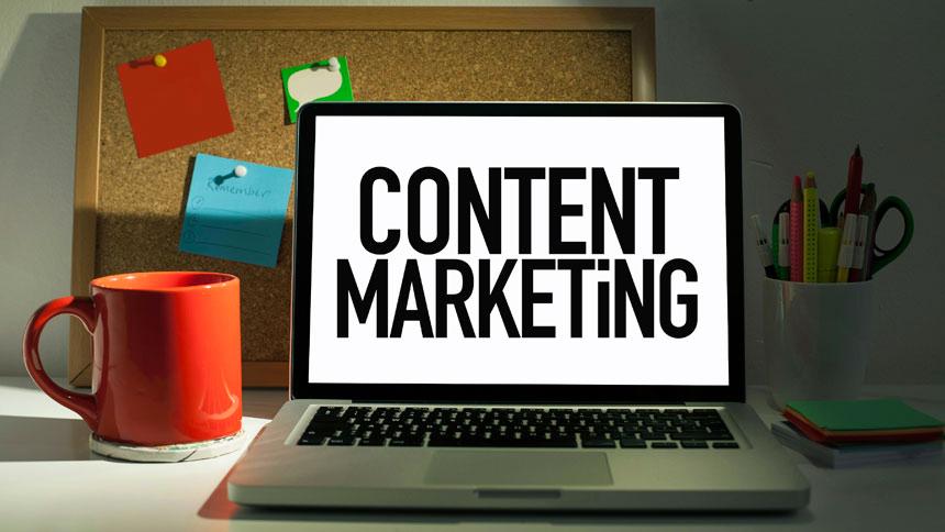 Content Marketing computer screen
