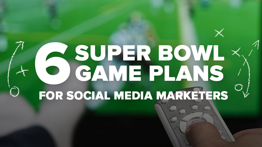 Super Bowl game with game plans on screen