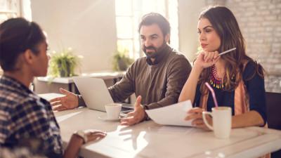 hiring manager interviewing a millennial