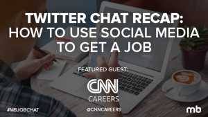How to use social media to get a job twitter chat