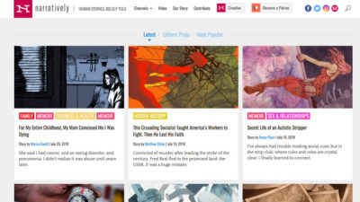 Narratively Homepage