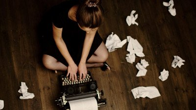 woman with bad writing