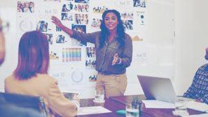 Women Pointing Presentation