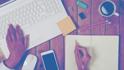Woman Laptop Notes