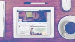 Tablet Facebook Marketing