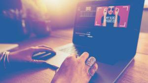 woman hands computer