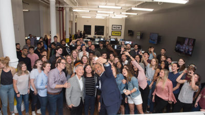 Now This staff takes selfie with Booker/Takei